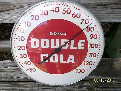 Double Cola Thermometer Sign NICE 1950s