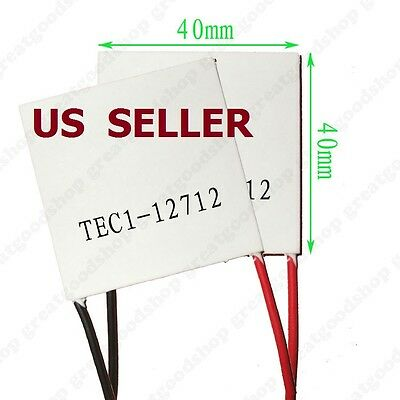 2PCS TEC1-12712 Heatsink Thermoelectric Cooler Cooling Peltier Plate Module 12V