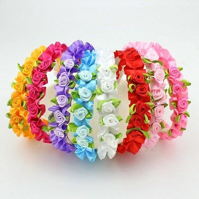 Kids Baby Girls Flower Rose Party Headband Garland Floral Hair Band Accessories