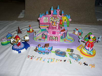 Disney Magic Kingdom Musical Castle Train Polly Pocket Play Set  Incomplete