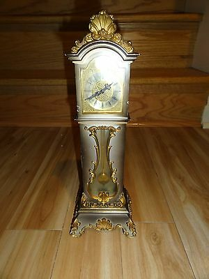 Vintage Sheffield 8 Day Miniature Grandfather Clock w/ Visible Moving Pendulum