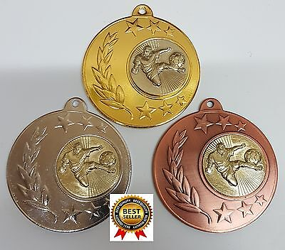1 x 50mm SOCCER MEDAL,TROPHY,AWARD, with FREE ENGRAVING and also  FREE RIBBON