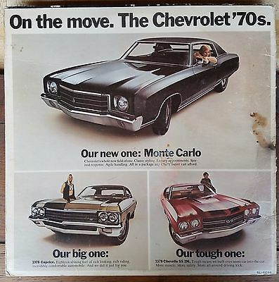 1970 Chevrolet chevelle ss 396 monte carlo advertising record album cover only
