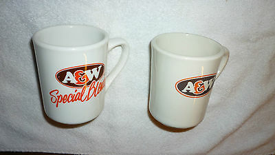 Vintage Lot Of Two A&w Coffee Cups 1 In French And English