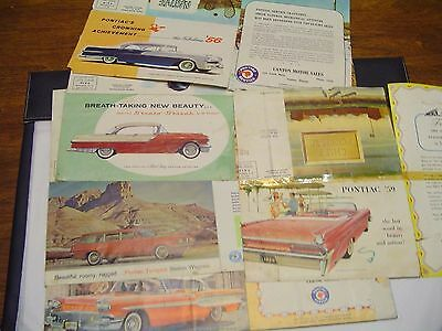 Vintage Pontiac Car Dealer Advertising Mailings Native American Indian Scenes