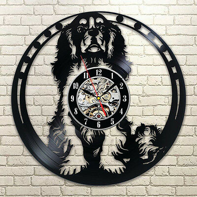 Cavalier King Charles Spaniel Dog House Pet Puppy Animal Vinyl Record Wall Clock