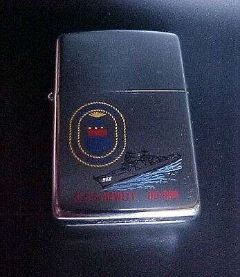 Zippo Lighter Spruance-class destroyer USS Hewitt (DD-966) VIETNAM DESERT STRIKE