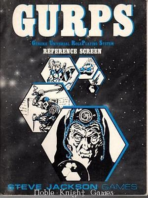Steve Jackson GURPS 1st-3rd Ed Reference Screen (1st Edition) Zip VG