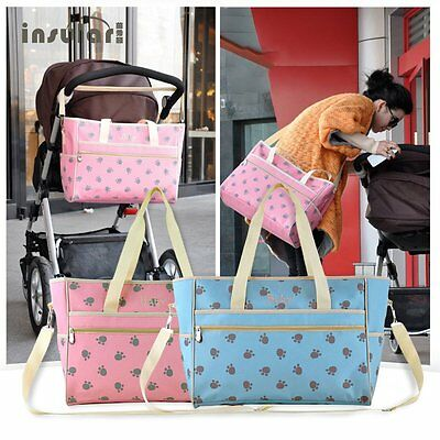 Insular Nappy Baby Bags Paws Printed Mummy Bag Waterproof Large Capacity SM