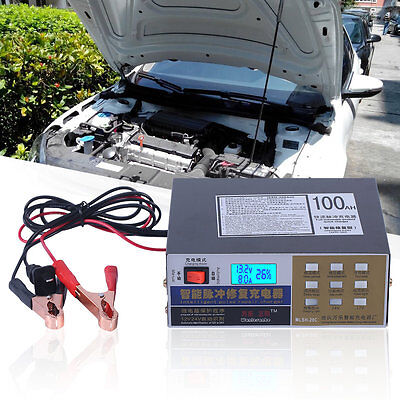 100AH Car Scooter Battery Charger Automatic Battery Charger Pulse Repair Type SM