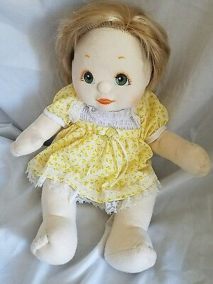 My Child doll blonde green eye yellow dress bloomers 1985 vintage no green heart