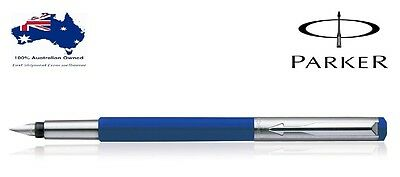 Parker Vector Mettalix Blue CT Fountain Pen Brand New in Gift Box