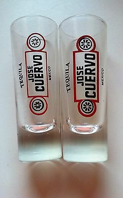 2 - Vintage - Jose Cuervo Shot Glasses - Tequila - Mexico - Barware - Original