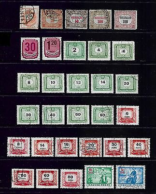 HUNGARY - mixed collection Back of Book 1874-1958 Newspaper Official Postage Due