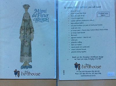 "DOLL PATTERN   ""MIMI DE FLEUR"" by   THE BIRDHOUSE"