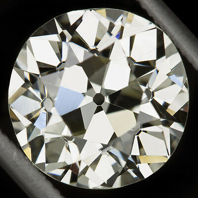 3 CARAT GIA CERTIFIED VINTAGE OLD EUROPEAN CUT DIAMOND M VS1 LOOSE 9mm ROUND 3ct