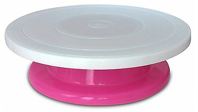 Rotating Decorating Cake Turntable, Icing and Cake Decoration (Pink)