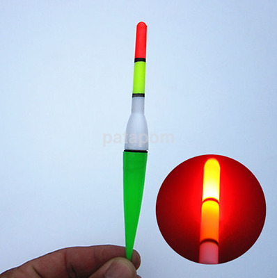 Night Fish Fishing Plastic Float Bobber Cork Red Flashing with LED Light AU