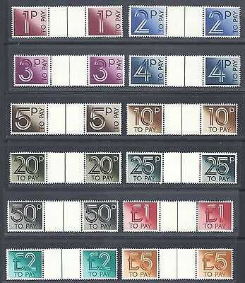 GB GREAT BRITAIN 1982 sg d90-d101 POSTAGE DUES GUTTER SET UNMOUNTED MINT MNH