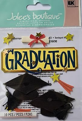 JOLEE'S BOUTIQUE GRADUATION Student Study Scrapbook Craft Stickers Embellishment