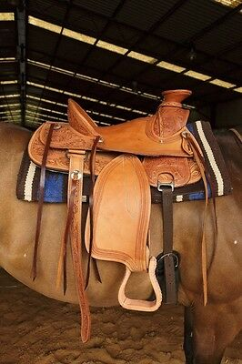 Wade Western Saddle Chestnut RI228