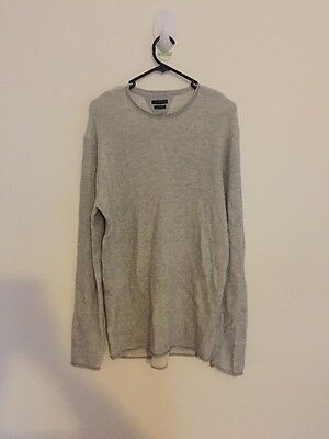 Men's Industrie Sweater Jumper Silver Size M Standard Delivery