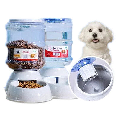 3.5L Large Pet Dog Cat Food Drink Dispenser Water Bowl Automatic Feeder Dish Hot