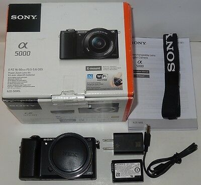 Nice Sony Alpha a5000 20.1 MP Digital SLR Camera ILCE-5000L No Lens S-Count 6
