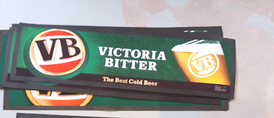 vb victoria bitter beer classic green rubber backed bar mat