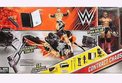 WWE Mattel Contract Chaos 12 ACCESSORIES Playset w/Finn Balor Figure EXCLUSIVE