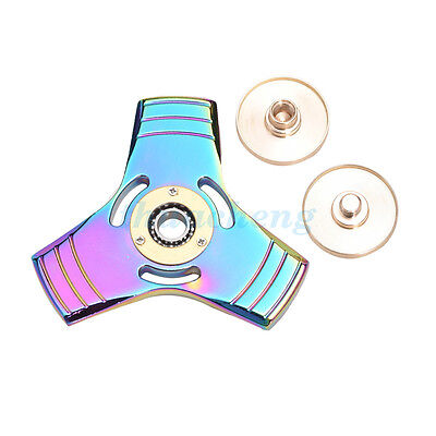 AU Stock Finger Hand Spinner Tri Fidget Bearing Desk Focus Gyro Toy Adults Kids