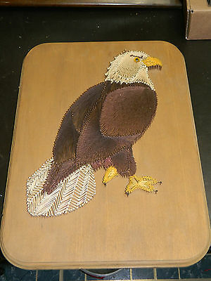 Vintage 1970's String Art American Bald Eagle