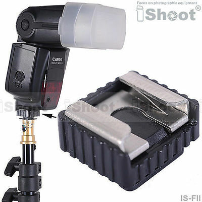 """iShoot Metal Flash Hot Shoe Mount Adapter with 1/4"""" Thread for Canon Speedlite"""