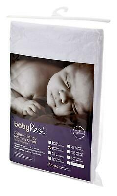 BabyRest Deluxe Towelling Change Mattress Cover King Parrot (White) - 755 x 400