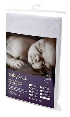 BabyRest Deluxe Towelling Change Mattress Cover Mali (White) - 700 x 480 x 100mm