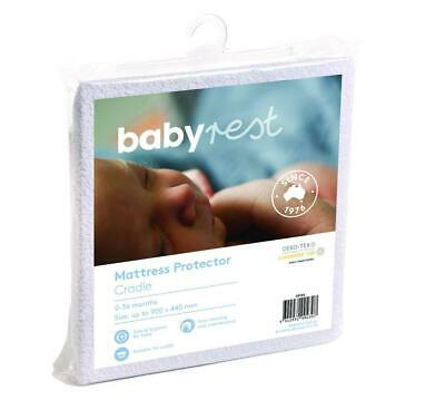 BabyRest Waterproof Cradle Mattress Protector - 900 x 440 x 10mm