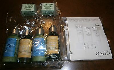 L'Occitane & Natio Bath shower get cubes & Travel size set sml bulk lot 10 items