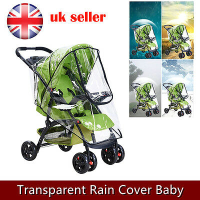 Baby Car Raincover Protection Rain Cover Pram Pushchair Stroller Universal Buggy