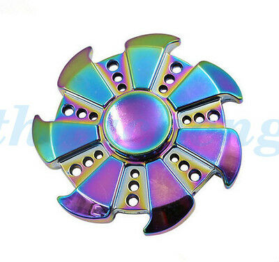 AU Stock EDC Fidget Spinner Hand Finger Focus Toy Rainbow For Kids Adults