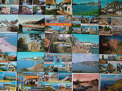 100 Used Postcards of DEVON. Mainly 1980's onwards.