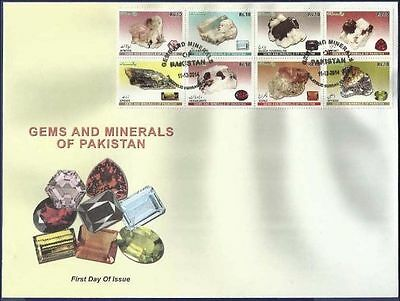 Pakistan 2014 Mnh Fdc First Day Cover Gems And Minerals Of Pakistan Aquamarine