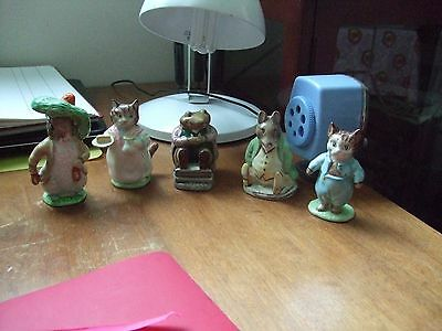 Beatrix Potter Beswick/Royal Albert Figures X 5 No