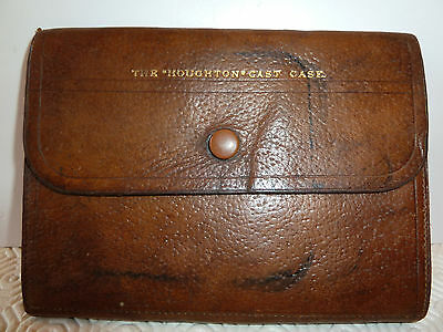 """Hardy Houghton Cast Case Stamped """"hardy Bros Cast Fly Leather Wallet"""""""