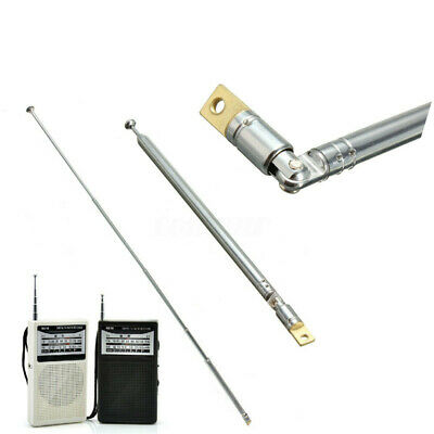 Silver Replacement 60cm 6 Sections Telescopic Antenna Aerial for Radio TV D2M