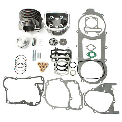 57mm Bore 150cc Gy6 Cylinder Head Piston Gasket Engine Rebuild Kit