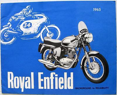 ROYAL ENFIELD Range Original Motorcycle Sales Brochure 1965