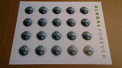 US Stamp #4740 GLOBAL FOREVER MNH SHEET Forever International Rate FREE SHIPPING
