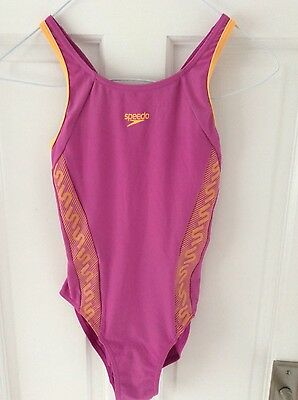 Girls pink speedo swimming costume age 10 years