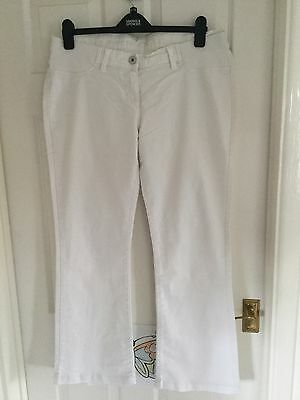 MARKS & SPENCER White Stretch Maternity Jeans  Size 14