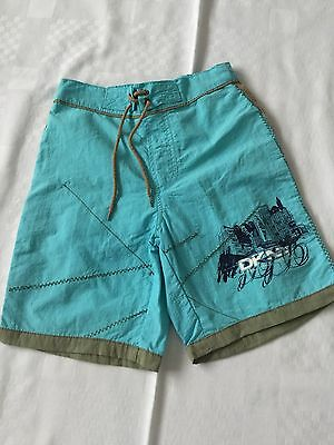 DKNY Turquoise & Taupe Swim Trunks Age 4